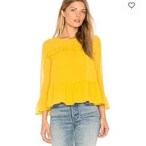 Cupcakes & Cashmere Katlyn Top in Safron Yellow